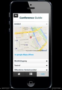 Einbindung von google-Maps in den Zusatzinfos für die erweiterte Anfahrtsbeschreibung