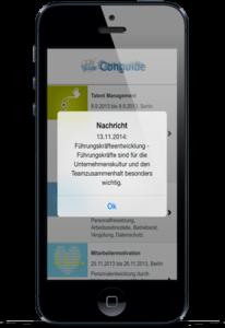 Push Nachricht innerhalb der App