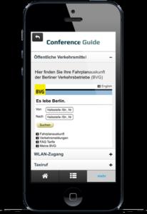 Einbindung einer mobilen Website zur Abfrage von Verbindungsinformationen  zum ÖPNV